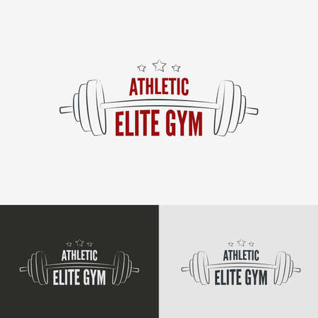 elite sport: Athletic gym icon concept.  Symbol for sport athletic club, vector illustration. Illustration