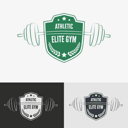 elite sport: Athletic gym logo concept.  Symbol for sport athletic club, vector illustration. Illustration