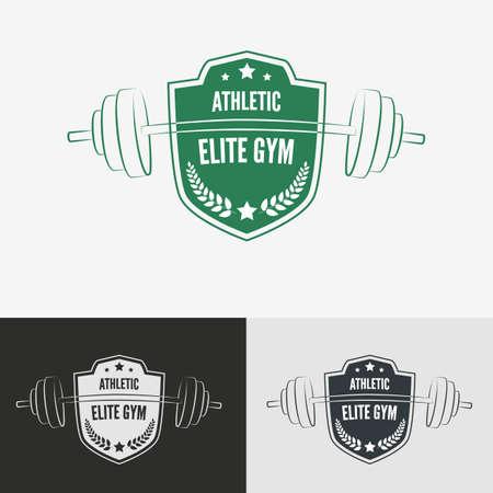 Athletic gym logo concept.  Symbol for sport athletic club, vector illustration. Ilustração