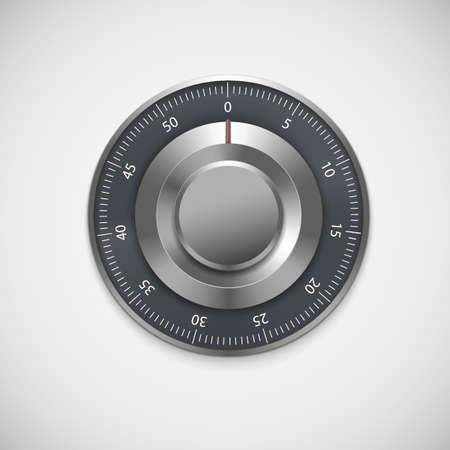 Realistische cijferslot, geïsoleerd op een witte achtergrond. Vector illustratie voor uw bedrijf Stock Illustratie