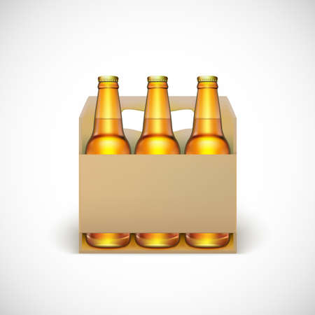 Packaging of beer, isolated on white background. Vector illustration for your business Ilustração