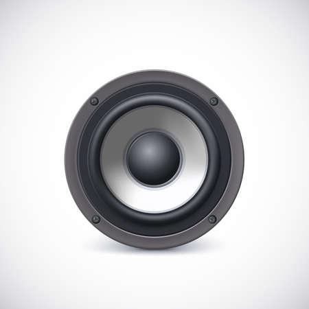 Audio speaker isolated on white background. Vector iilustration, eps10 Illustration