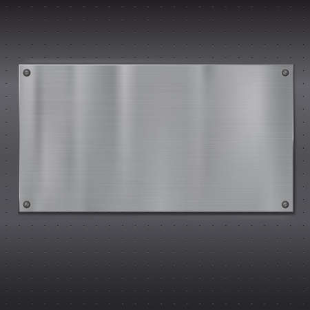 metal plate: Metal plate over grate texture, vector illustration for your design.