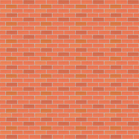 red brick wall: Red brick wall, industrial background for your design. Vector illustration.