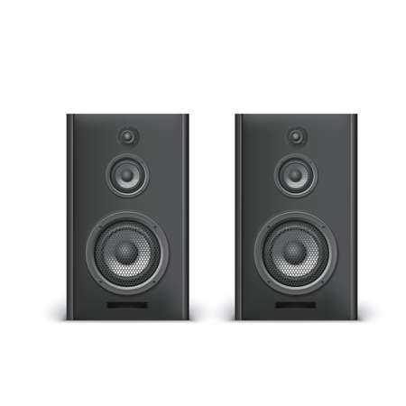 loud   speakers: Speakers isolated on white background, vector illustration for you