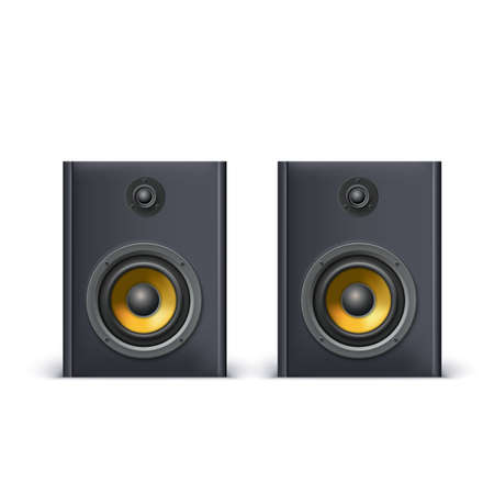 speakers: Speakers isolated on white background, vector illustration for you
