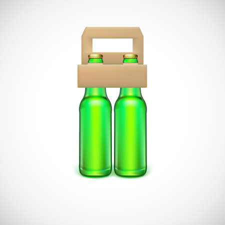 cold pack: Packaging of beer, isolated on white background. Vector illustration for your business Illustration