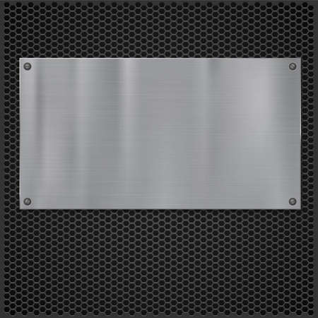 grate: Metal plate over grate texture, vector illustration for your design.