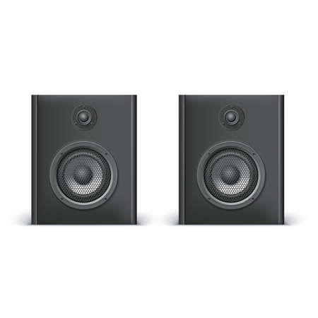 woofer: Speakers isolated on white background, vector illustration for you