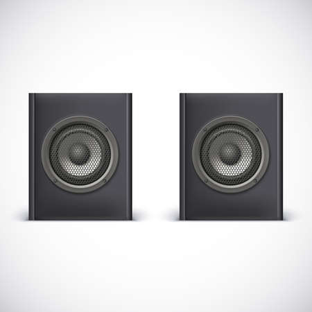 Speakers isolated on white background, vector illustration for you