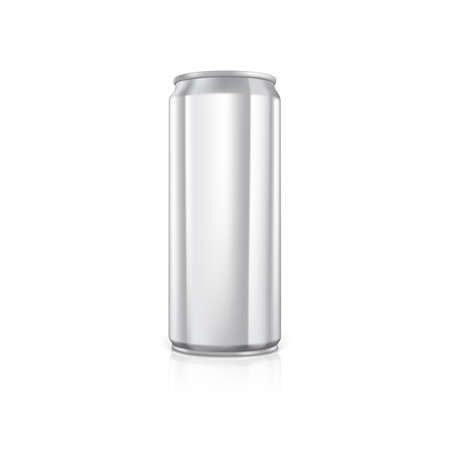 scalable: Blank aluminium can.  Drawn with mesh tool. Fully adjustable and scalable