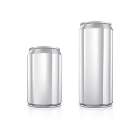 scalable: Set of blank aluminium cans.  Drawn with mesh tool. Fully adjustable and scalable