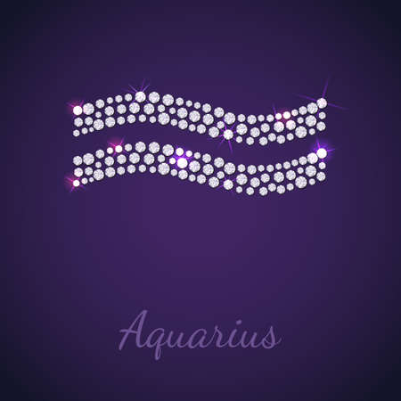 aquarius star: Diamond signs of the zodiac Aquarius. Vector Illustration. EPS10