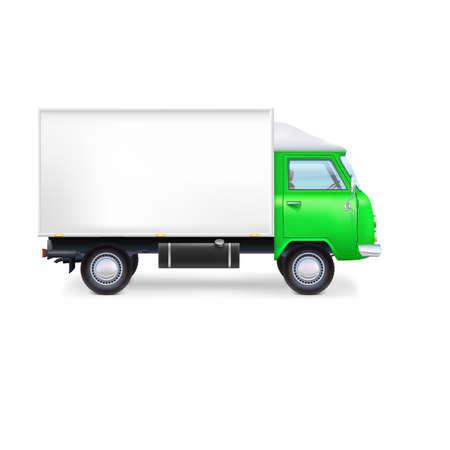 Commerciële levering, vrachtwagen, volledig bewerkbare vector illustratie eps10