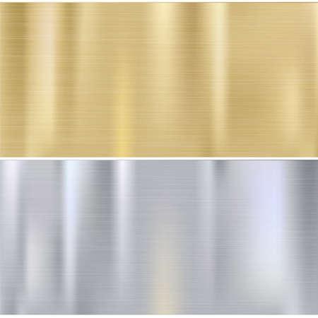 textura: Brocha brillante placas de metal. Fondo del acero inoxidable, ilustraci�n vectorial para