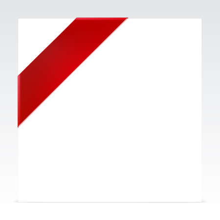 Red corner ribbon with place for your text