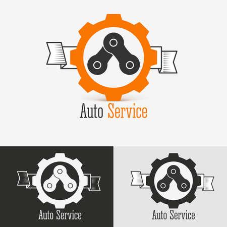 auto service: Auto  design template. Concept for automobile repair service, spare parts store. .  Mechanic service Illustration