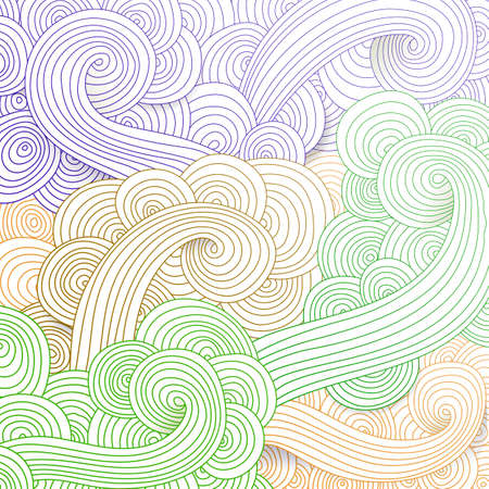 swirl backgrounds: Tangled pattern, waves background. Abstract hand-drawn ornament, illustration