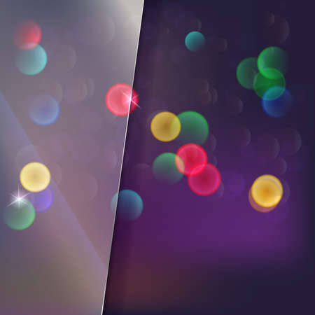 rain window: Blurred abstract background with colored spots and glass with space for text