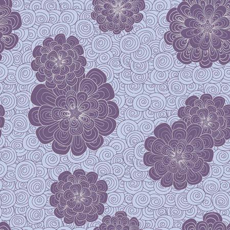 multiplicar: Resumen de fondo con flores y combinaci�n de colores simple. Los patrones se dibujan a mano. estilo de dibujo japones. Coloque el patr�n sobre el lienzo y se multiplican.