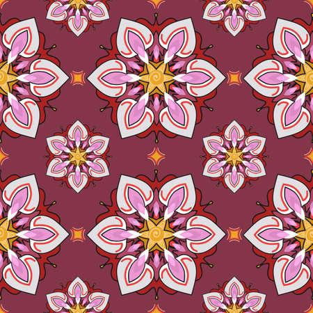 multiplicar: patr�n sin fisuras del tema del verano, fondo floral abstracto, papel pintado del vector, la primavera y el tema del verano para su dise�o. estilo de dibujo. Coloque el patr�n sobre el lienzo y se multiplican. Vectores
