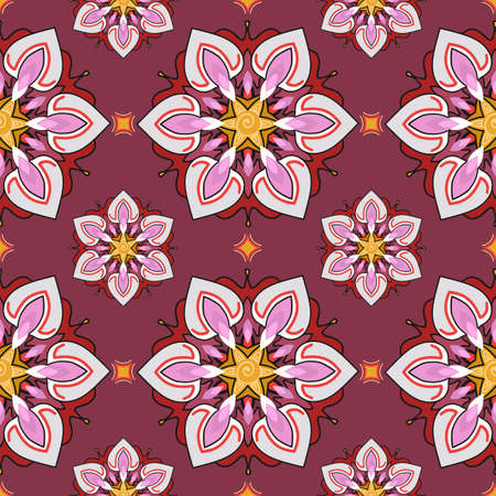 multiply: Summer theme seamless pattern, abstract floral background, vector wallpaper, spring and summer theme for your design. Doodle style. Place the pattern on your canvas and multiply. Illustration