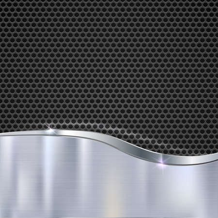 metal mesh: Elegant vector metallic background. Polished texture with highlights and glow on the background of metal mesh