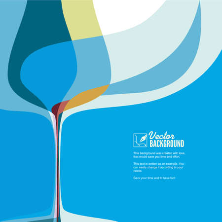 restaraunt: Restaraunt, bar cover for menu, abstract composition with wine glass