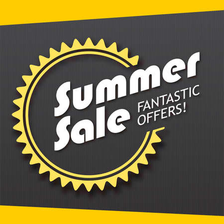 promotional offer: Summer sale and special offer banner. Great bright background for your offers, promotional posters, advertising shopping flyers and discount banners.