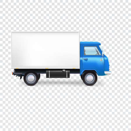 Delivery van with box on transparent background, vector illustration for your presentation, posters, cover and other design