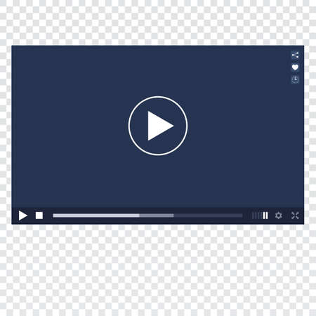 windows media video: Video player for web and mobile apps template. Video Player mockup on transparent background. Vector video Player skin. Video Player template. Modern Video player. Video player interface.