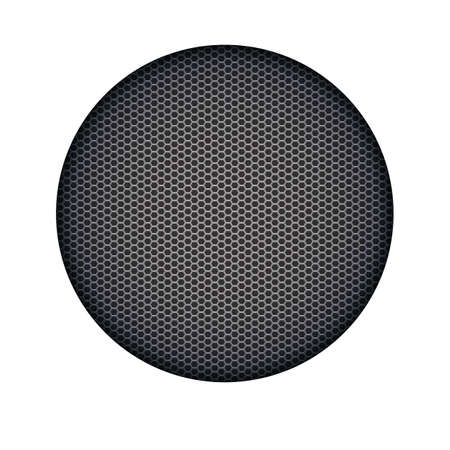 metal mesh: Background with sound speakers dynamics metal mesh.  Vector Illustration. Great background for advertising and design. Speaker dynamic black vector grille template