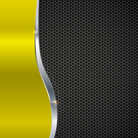 metal mesh: Elegant vector metallic background. Color polished texture with highlights and glow on the background of metal mesh. Vector editable texture, easy to change size Illustration