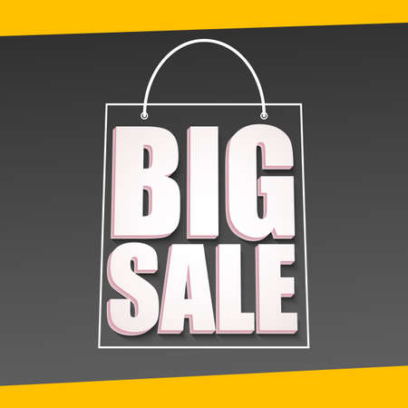 big size: Big sale advertisement. Colorful expressive, attention-drawing banner. Vector editable symbol, easy to change size
