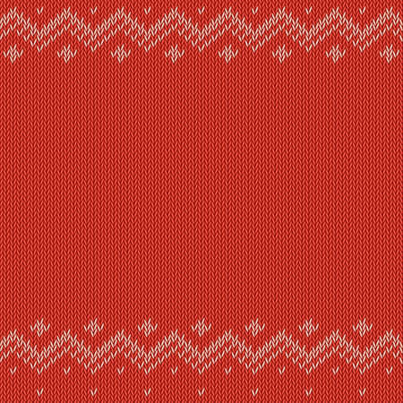 coarse: Red knitted background with classic pattern, vector editable resizable illustration