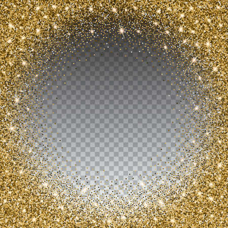 glitzy: Gold glitter bright vector, transparent background. Golden sparkles, shiny texture,. Excellent for your greeting cards, luxury invitation, advertising, certificate Illustration