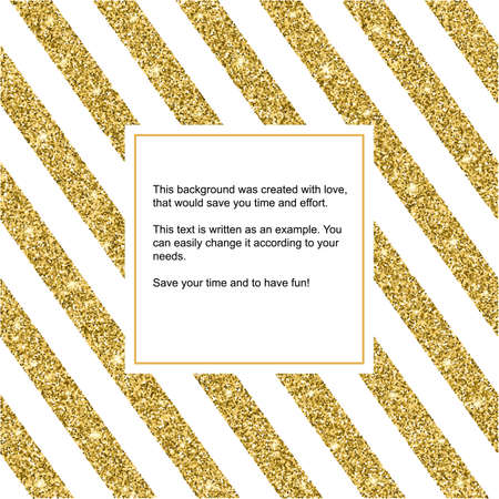 glitzy: Gold glitter and bright sand, white background. Golden sparkles, shiny texture,. Excellent for your greeting cards, luxury invitation, advertising, certificate Illustration