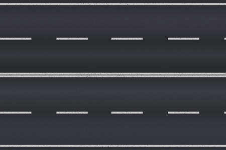 Asphalt road texture with white stripes. Vector illustration Illustration