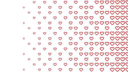 하프 톤 패턴 배경, 심장 모양, 빈티지 또는 복고풍 그래픽 텍스트 장소. 붉은 색 하프 톤 디지털 효과입니다.