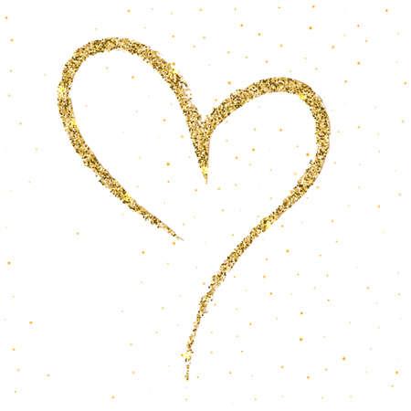 Von Hand gezeichnetes, flüchtiges, Gekritzelherz mit Schein und Glühen auf weißem Hintergrund. Ein Symbol mit einem Pinsel gezeichnet. Vorlagen-Valentinsgruß oder Muttertag, Postkarten, druckend auf T-Shirts mit Liebe für geliebte.