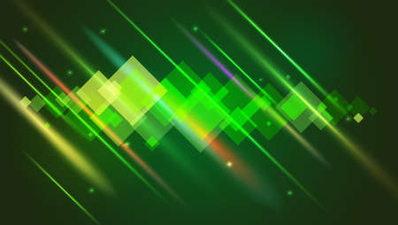 Abstract bright motion design with blurred light rays and lens flare. Vector illustration. Illustration