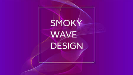 rainbow abstract: Smoky waves background. Structural curved pattern, flow motion illustration. Abstract backdrop, template for cover, banner, poster or packaging