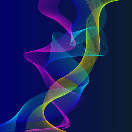 Smoky waves background, Structural curved pattern, flow motion illustration, Abstract backdrop, template for cover, banner, poster or packaging