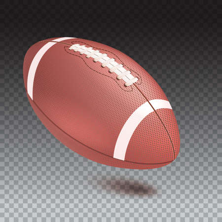 Realistic vector 3D illustration of football with shadow isolated on transparent background.  イラスト・ベクター素材