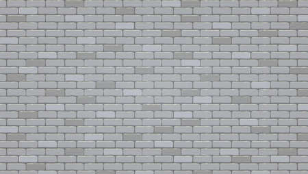 Brick wall background, vector pattern. Illustration, texture of brick wall  イラスト・ベクター素材
