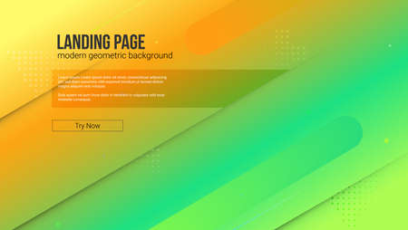 Website template with modern gradient and graphic background. The concept of landing page of website with dynamic composition of shapes. Vector template for cover, posters, presentations, leaflets. 일러스트