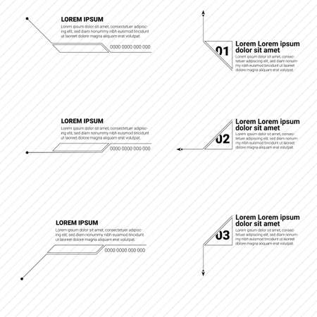 Design of digital callouts titles. Set of templates for modern banners of lower third for presentation. Vector design of forms for titles bar for infographics, advertising, video production