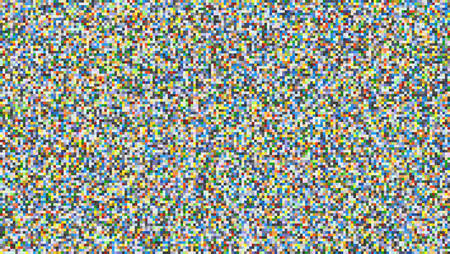 Abstract digital pixel noise. Glitch error, video damage. Square texture, randomly colored pattern. Vector Illustration Vectores