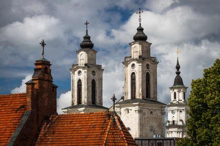 Church towers in Kaunas photo
