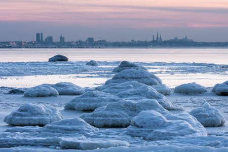 tallin: Tallin Gulf in winter Stock Photo